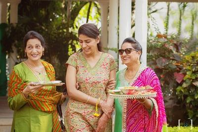 Beginning of Haldi Ceremony held at Jehanuma Palace Lawns, Bhopal.