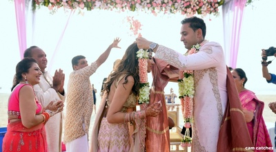 Jaimala ceremony for the bride and groom
