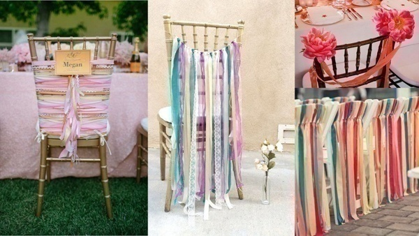 Diy beautiful outdoor wedding decoration ideas on a budget blog ribbon tassels for chair backs for the guests seating you can use some nice ribbons and tie it on the backrests you can use multiple ribbons and let junglespirit Images