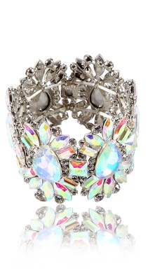 TI Couture Crystal flower expandable bracelet