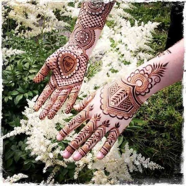 Arabic Bridal Mehndi Designs Front and Back