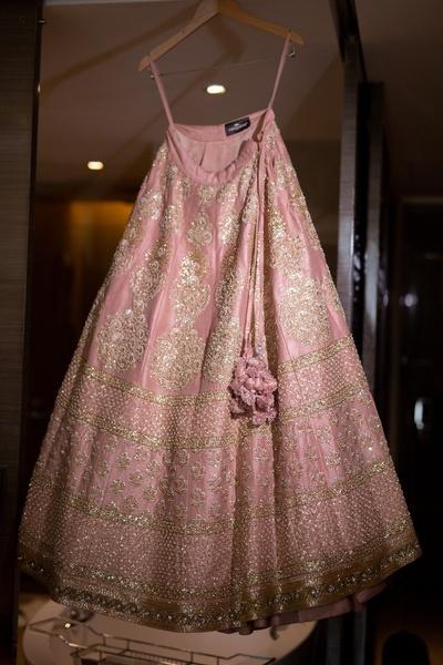 blush pink sabyasachi lehenga