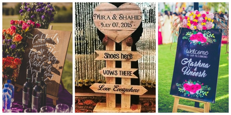 10 ways to include Signages in your Wedding to add that personal touch for your guests!