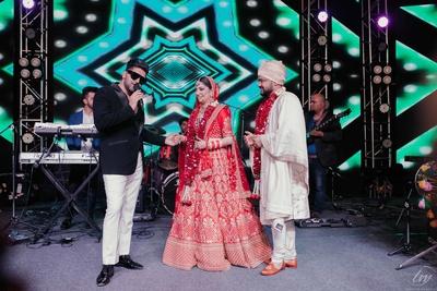 The couple grooving to Guru Randhawa's music.