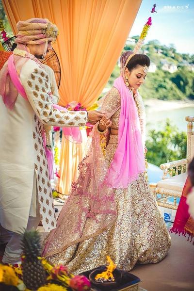 Gorgeous hindu destination wedding pheras held at Westin Siray Bay Resort and Spa, Phuket.