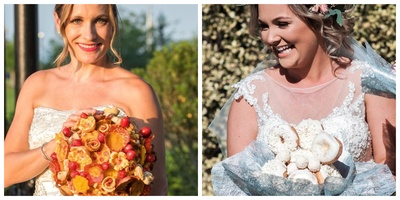 Brides Who Ditched Flowers and Chose Food for Their Bouquet!