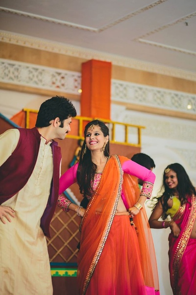 Couple performance at the sangeet ceremony.
