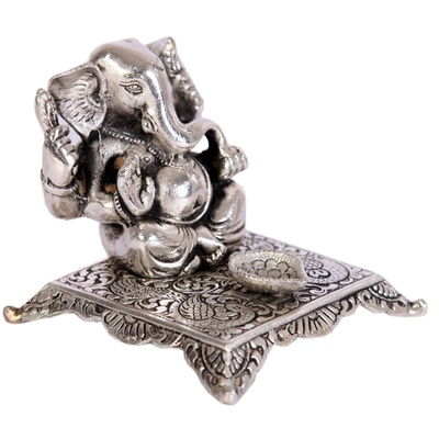 Boontoon Oxidised ganesh chowki with diya