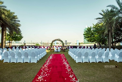 Palazzo Versace plays host to the bride and groom's wedding