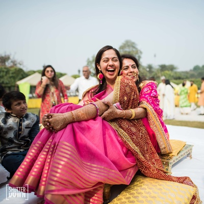 Haldi ceremony in progress at Hotel Renaissance, Lucknow