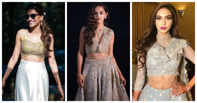 The Best crop top and skirt combinations for an Indian Wedding!