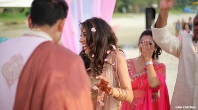 flower petal shower for the bride and groom