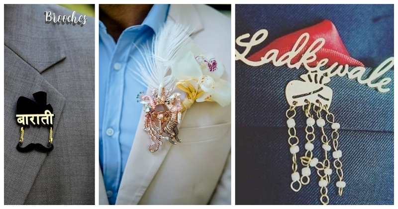 8 customized wedding brooch ideas for your guest-list to flaunt!