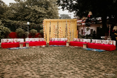 The setting was simple for the mehendi ceremony