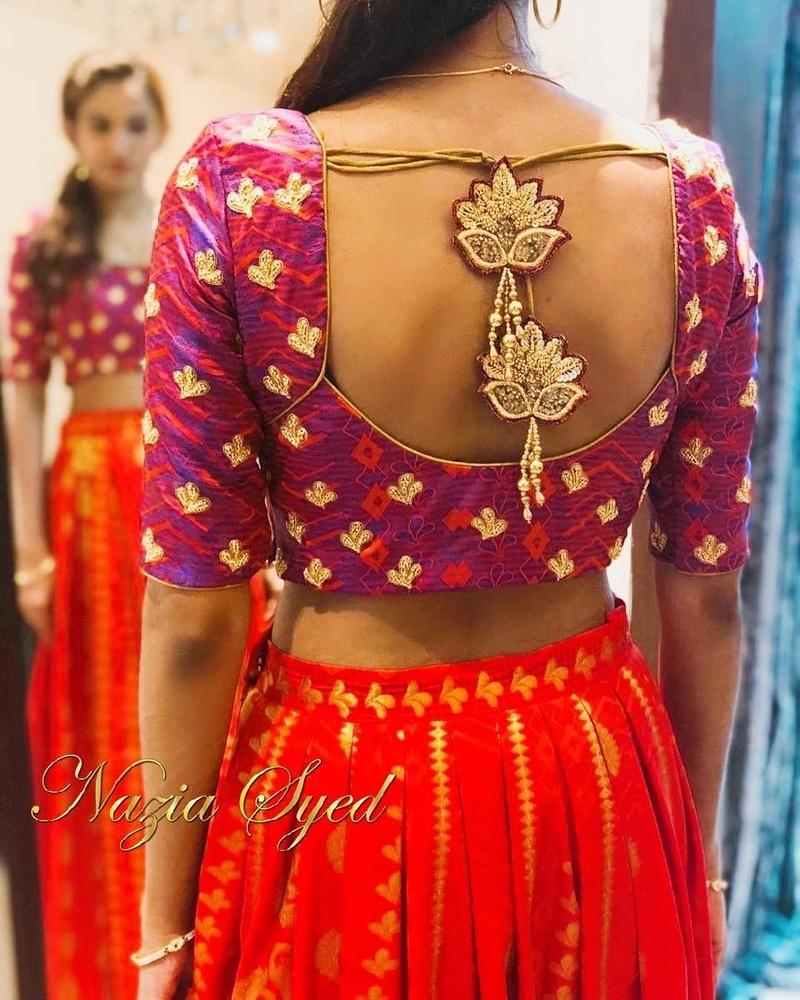 Blouse Back Design Ideas For Your Wedding Saree Lehenga