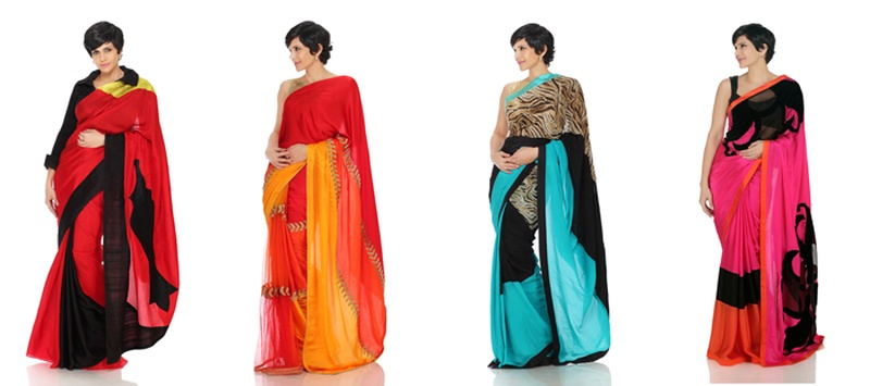 Cocktail Sarees from Mandira Bedi's Latest Collection