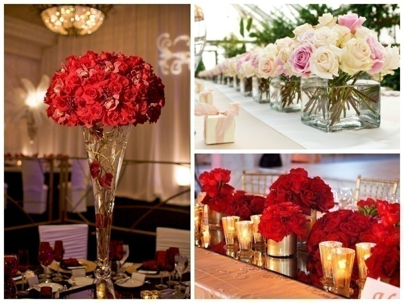 ROMANTIC ROSES FOR WEDDING DECOR
