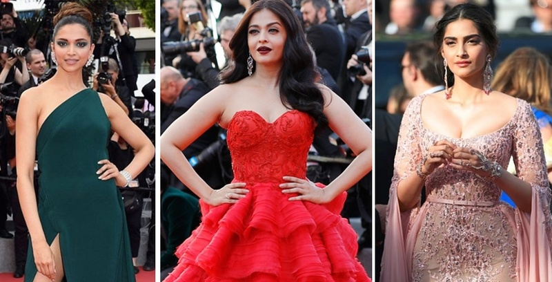 Here's What Our Favourite Bollywood Celebs Wore To The Cannes Festival 2017. #WeddingFashionInspiration
