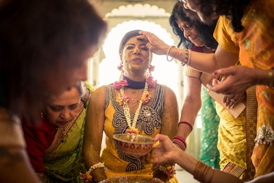haldi ceremony takes place before the wedding function