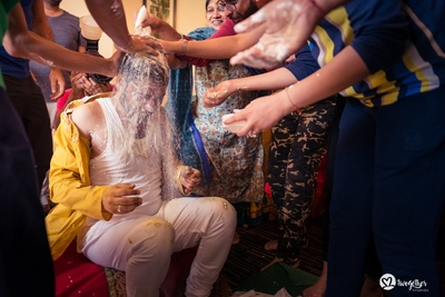 fun filled haldi ceremony for the groom