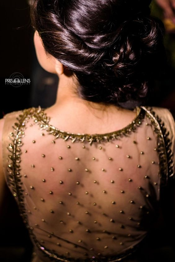 Backside Net Blouse Design: 20 net blouse designs to wear with sarees or lehengas on your big rh:weddingz.in,Design