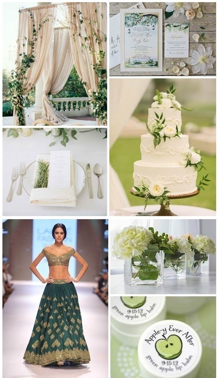 GREEN AND IVORY WEDDING THEME IDEA
