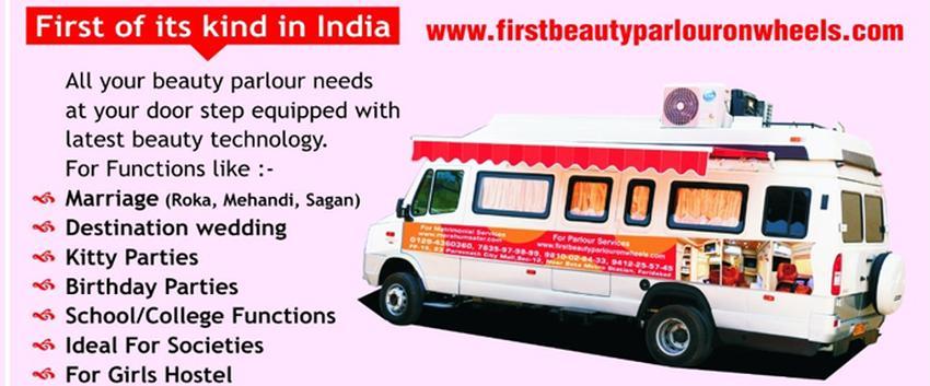 First Beauty Parlour On Wheels | Delhi | Makeup Artists