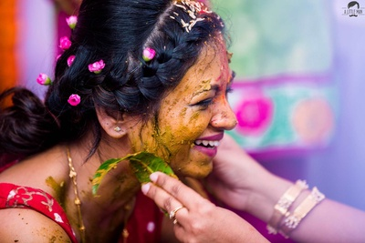 Haldi ceremony of the bride