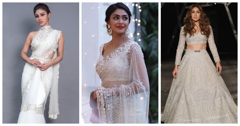 Navratri #Day2: White Outfit Inspiration for Brides and Bridesmaids