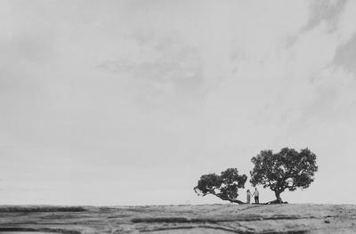 Black and white pre wedding shot by Siddharth Sharma.