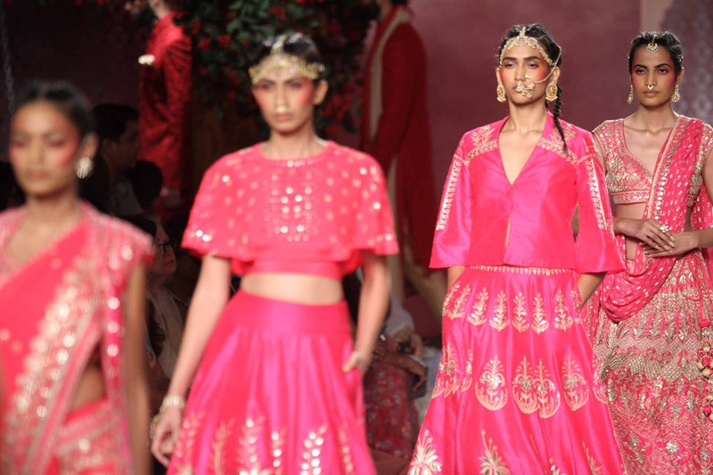 Fall In 'Epic Love' with Anita Dongre's Indian Bridal Wear Collection Showcased at ICW, 2016