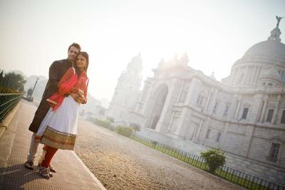 Pre-wedding photo shoot at Victoria Memorial, Kolkata