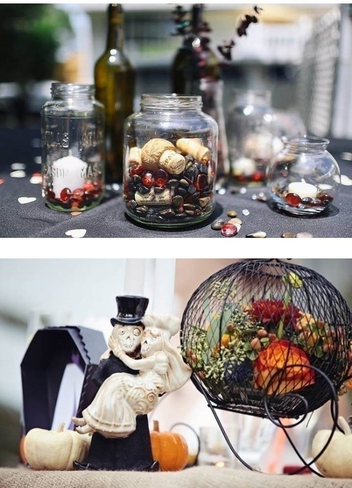 GOTHIC WEDDING CENTREPIECES