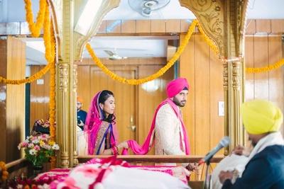 the pheras of a Sikh wedding