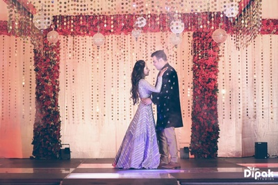 Dance of the night, by the bride and the groom during their sangeet ceremony