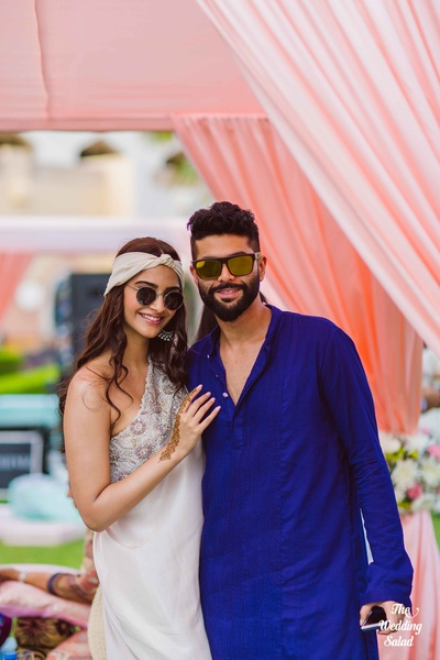 Sonam Kapoor sharing a moment with her designer friend Kunal Rawal
