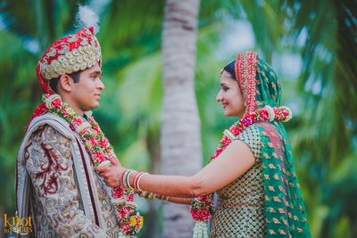 Rushi and Disha's grand wedding ceremony held in Soiftel, Krabi overlooking the sunset