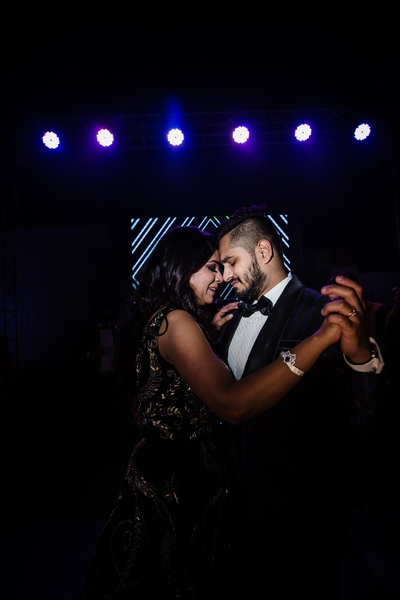 How cute does the couple look dancing at the Sangeet ceremony?!