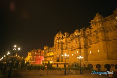 Jagmandir, Udaipur lighted up with lightings for the grand wedding ceremony of Pranita and Ankit