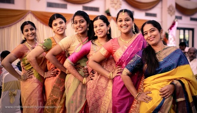 Pretty ladies dressed in ethnic sarees looking extremely gorgeous