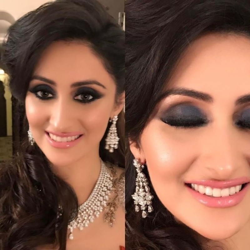 You cannot keep it simple as the camera lights will fade the wedding makeup out. So go photogenic and add a bit extra for the sake of good wedding snaps!