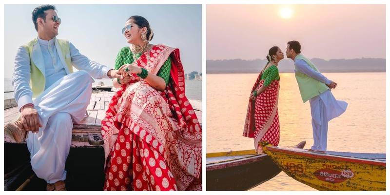 A Stunning Pre-wedding Shoot at the Ghats of Benaras!