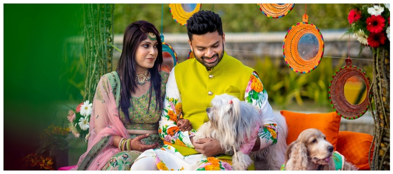 Saurabh & Khushboo Siliguri : Picturesque settings and adorable dogs- This wedding is nothing short of a pet lover's delight!