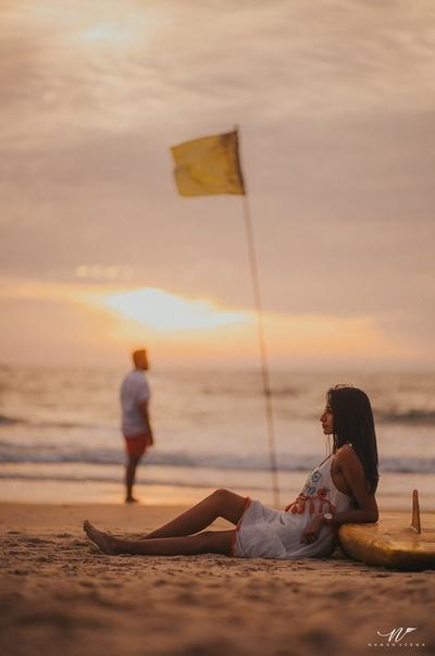 Romantic pre wedding shoot by the beach
