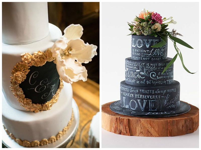 The New Shiz in Wedding Cakes: Edible Chalkboard Cake Designs