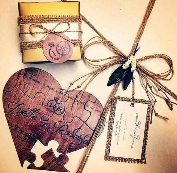 Cuteness Overloaded Heart Shaped Puzzle Wedding Invite