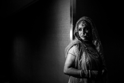 Black and White Bridal photography by Studio-ANK.