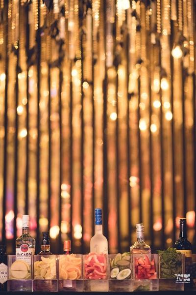 bar decor for the sangeet ceremony