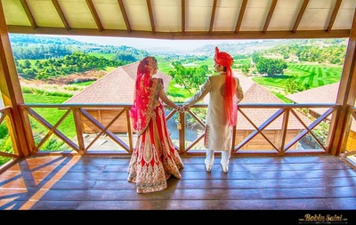 Post-wedding shoot at Oxford Golf Resort, Pune