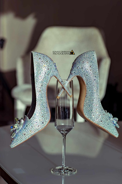 Jimmy Choo shoes and champagne fit together so perfectly